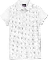 Nautica Uniform Eyelet Polo Shirt, Girls (7-16)