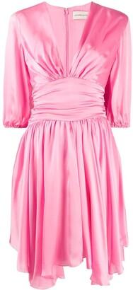 Alexandre Vauthier Draped Silk Mini Dress