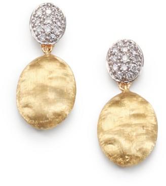 Marco Bicego Siviglia Diamond, 18K Yellow & White Gold Drop Earrings