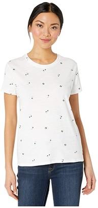 Lucky Brand Short Sleeve Crew Neck Lucky All Over Clover Tee (Lucky White) Women's Clothing