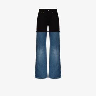 MM6 MAISON MARGIELA Two-Tone Straight Leg Jeans