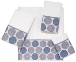 Avanti Dotted Circles Bath Towel Bedding