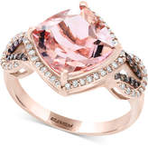 Effy Final Call by Morganite (3-1/2 ct. t.w.) & Diamond (1/3 ct. t.w.) Ring in 14k Rose Gold