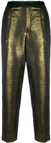 Lanvin Pre Owned metallic straight-leg trousers