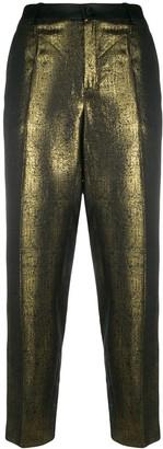 LANVIN Pre-Owned Metallic Straight-Leg Trousers
