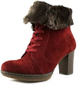 Gabor Lace Up W Round Toe Canvas Ankle Boot.