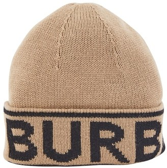 Burberry Cashmere hat with logo
