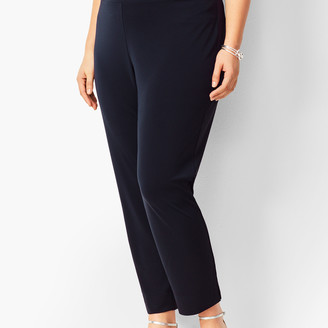 Talbots Plus Size Knit Jersey Tapered Ankle Pants