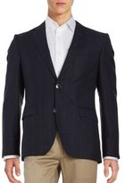 HUGO Pick-Stitched Button Front Jacket