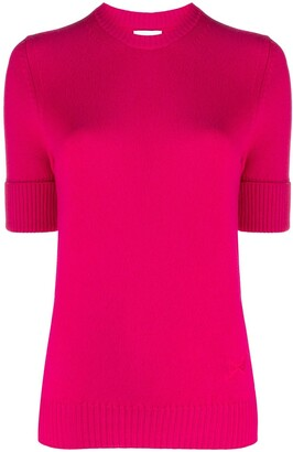 Barrie Blabel short-sleeved cashmere jumper
