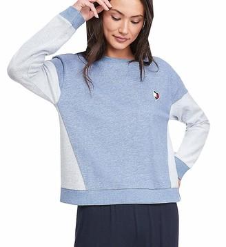Tommy Hilfiger Women's Retro Style Colorblock Long Sleeve Pajama Top Shirt Pj