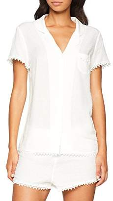 Pour Moi? Women's Siesta Short Sleeved Pyjama Top White, (Size:)