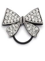 Tasha Crystal Bow Ponytail Holder