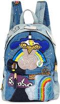 Marc Jacobs Biker Denim Patches Backpack, Blue