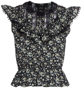Marc Jacobs The Victorian V-Neck Sleeveless Top