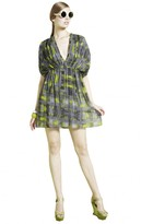 Alice + Olivia Eileen Drop Shoulder Short Dress