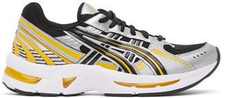 Asics Black and Silver Gel-Kyrios Sneakers