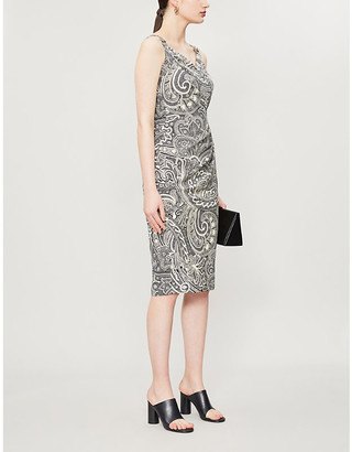 Max Mara Verusca abstract-print cotton midi dress