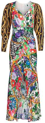 Rixo Madonna Mixed Print Dress