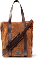 Andersons Anderson's - Leather-Trimmed Suede Tote Bag