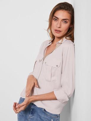 Mint Velvet Utility Zip Front Shirt - Neutral