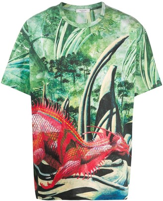 Valentino All-Over Red Dragon T-shirt