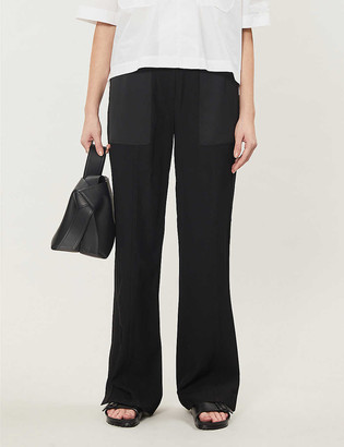 Me And Em Straight-leg mid-rise stretch-twill trousers