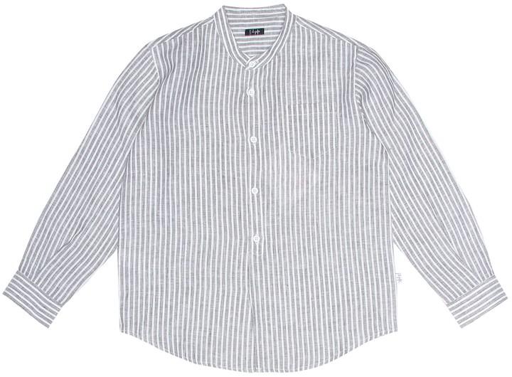 Il Gufo Striped linen blouse
