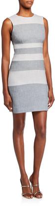 Toccin Bold Stripe Sleeveless Sheath Dress
