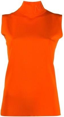 Nina Ricci Sleeveless Mock-Neck Top