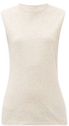 Raey Recycled-yarn Cotton-blend Tank Top - Womens - Nude