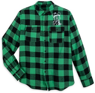 Disney Mickey Mouse Plaid Flannel Shirt for Adults