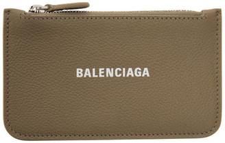 Balenciaga Grey Cash Zip Card Holder