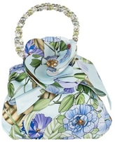 David Charles Blue Floral Satin Bag