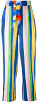 Mara Hoffman striped high-waisted trousers