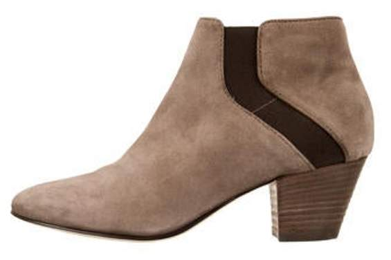 Aquatalia Round-Toe Ankle Boots Brown Round-Toe Ankle Boots