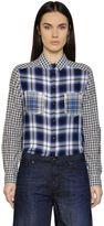 Diesel Patchwork Check Cotton Flannel Shirt