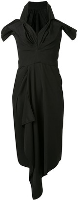 Maticevski Draped Asymmetric Dress