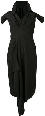 Maticevski Draped Asymmetric Dress