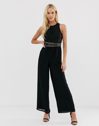 Little Mistress upper detail jumpsuit