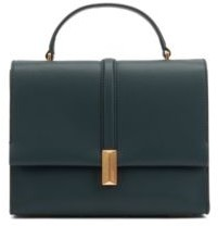 BOSS Italian-leather handbag with top handle and signature hardware