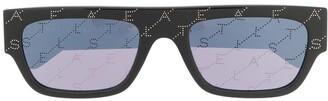 Stella Mccartney Eyewear Rectangle-Frame Logo Sunglasses