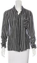 A.L.C. Silk Striped Top
