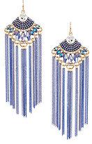 Natasha Accessories Natasha Beaded Chain Statement Earrings