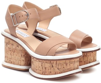 Gabriela Hearst Harrigan leather and cork sandals