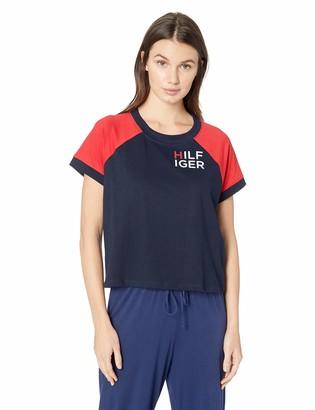 Tommy Hilfiger Women's Short Sleeve Cotton Tee Shirt Logo Lounge Pj