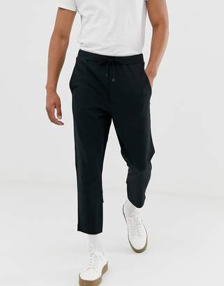 BOSS Hugo Dobigny drawstring trousers-Black