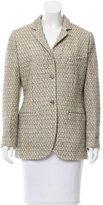 Chanel Wool-Blend Notch-Lapel Blazer