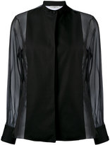 Lanvin sheer sleeve blouse - women - Silk/Cotton/Polyamide - 36