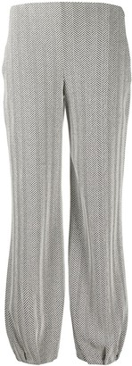 Emporio Armani Knitted Zigzag Patterned Trousers